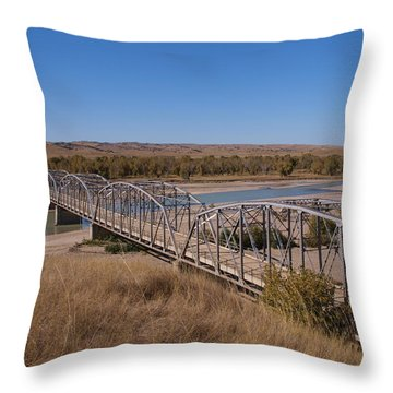 Four Corners Bridge Throw Pillow