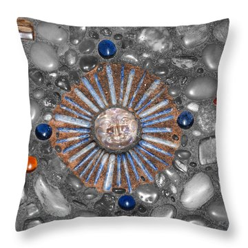 Four Corners Of The Sun Throw Pillow