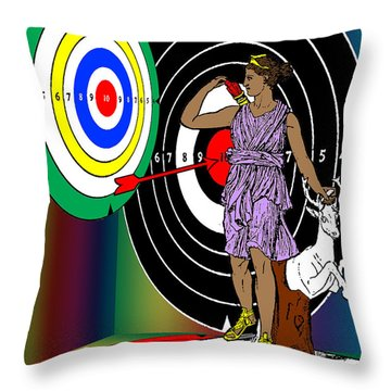 Four Dianas Throw Pillow