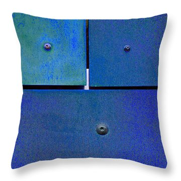 Four Five Six - Colorful Rust - Blue Throw Pillow