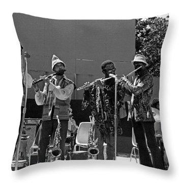 Four Flutes 2 Throw Pillow