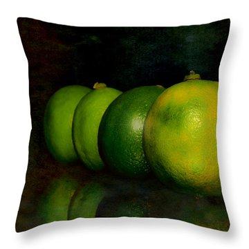 Four Limes Throw Pillow