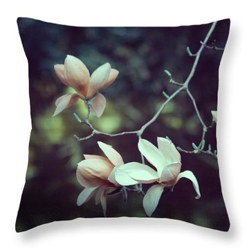 Four Magnolia Flower Throw Pillow