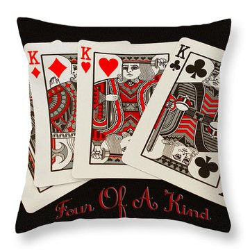 Four Of A Kind Throw Pillow by James C Thomas