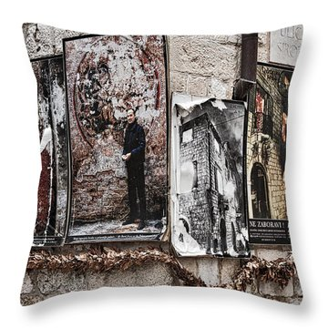 Four Posters Throw Pillow