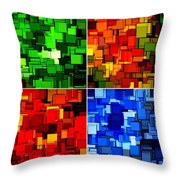 Four Seasons In Abstract II Throw Pillow by Lourry Legarde