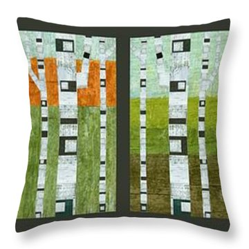 Four Seasons Throw Pillow by Michelle Calkins