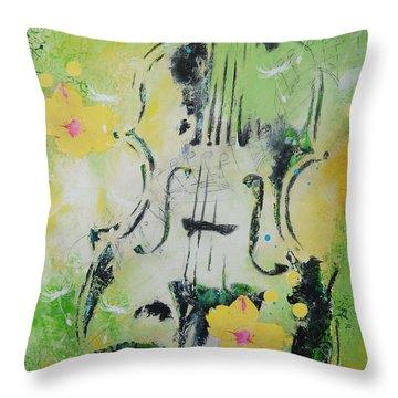 Four Seasons Spring Throw Pillow by Bitten Kari