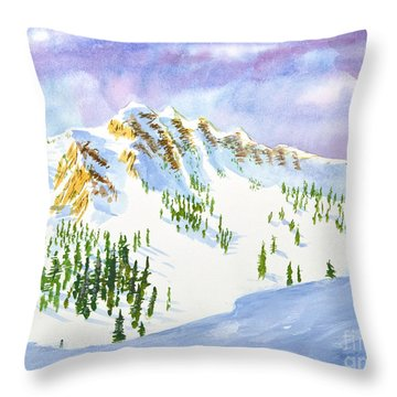 Four Sisters At Snowbasin Throw Pillow
