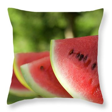 Four Slices Of Watermelon Throw Pillow