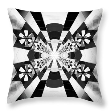 Throw Pillow featuring the drawing Four Star Gateway by Derek Gedney