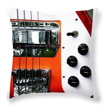 Four String Rickenbacker Bass  Throw Pillow