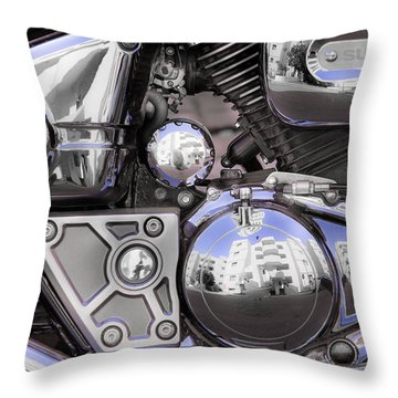 Four-stroke Throw Pillow by Edgar Laureano