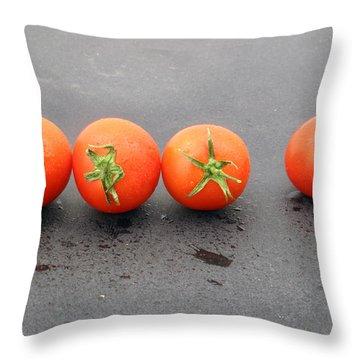Four Tomatoes Throw Pillow