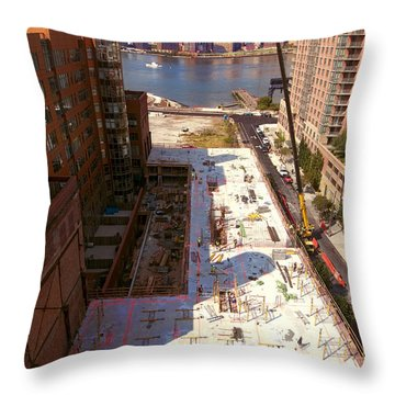 Fourth Floor Slab Throw Pillow by Steve Sahm