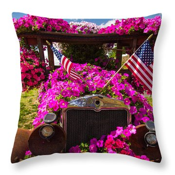 Fourth Of July Color Throw Pillow