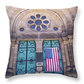 Fourth Of July  Throw Pillow by Michael Krek