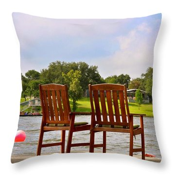 Fourth Of July Vacation Throw Pillow