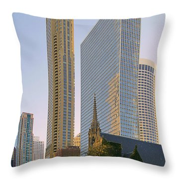 Fourth Presbyterian Church Chicago Throw Pillow by Christine Till