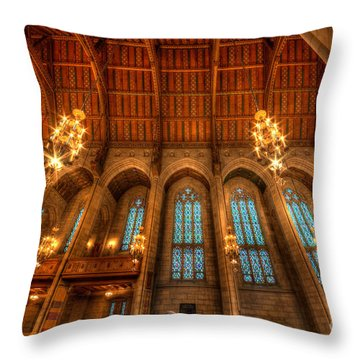 Fourth Presbyterian Church Chicago Throw Pillow