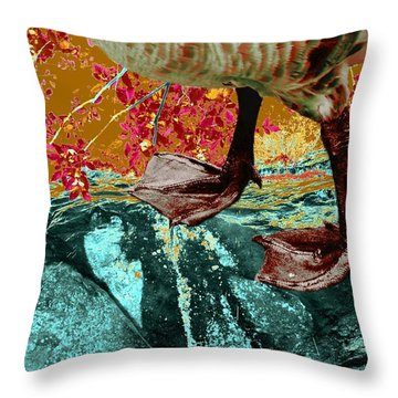 Fowl Weather Friend Throw Pillow