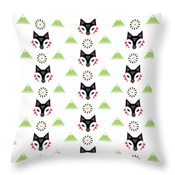Fox Mountain Throw Pillow by Susan Claire