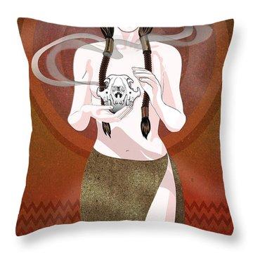Fox Spirit Throw Pillow