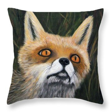 Fox Stare Throw Pillow