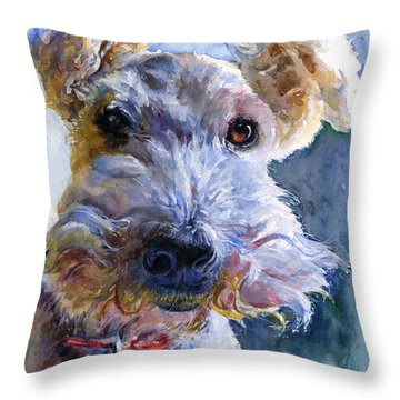 Fox Terrier Full Throw Pillow