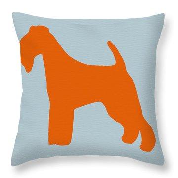 Fox Terrier Orange Throw Pillow