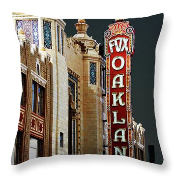 Fox Theater . Oakland California Throw Pillow