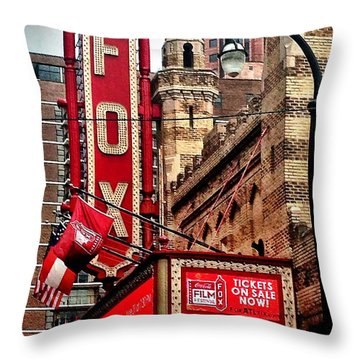 Fox Theater - Atlanta Throw Pillow