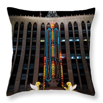 Fox Theater In Detroit Michigan Throw Pillow
