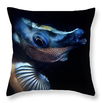 Foxface Rabbitfish Throw Pillow