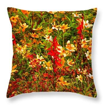 Foxfire 1 Throw Pillow by Nick Kirby