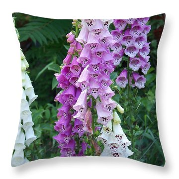 Foxglove After The Rains Throw Pillow