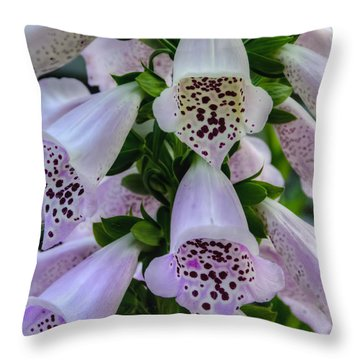 Foxglove At Waters Edge Throw Pillow
