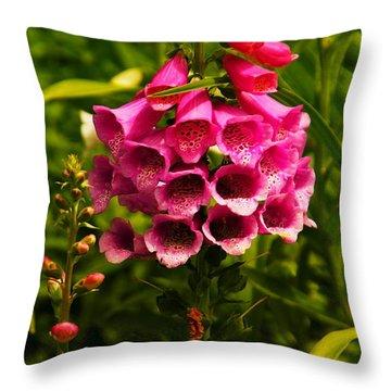 Foxglove Throw Pillow by Jeff Swan