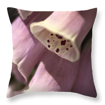 Throw Pillow featuring the photograph Foxglove by Joy Watson