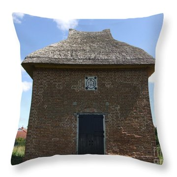 Throw Pillow featuring the photograph Foxton Dovecote by Richard Reeve