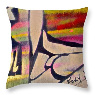Foxy Brown Throw Pillow by Tony B Conscious