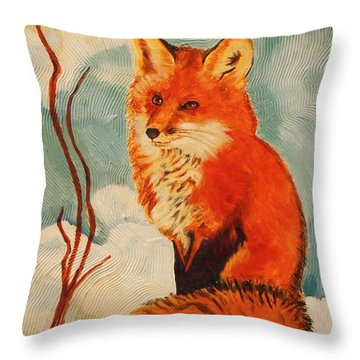 Foxy Presence Throw Pillow