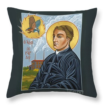 Fr. Gerard Manley Hopkins The Poet's Poet 144 Throw Pillow by William Hart McNichols