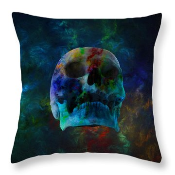 Fracskull 3 Throw Pillow by Chris Thomas