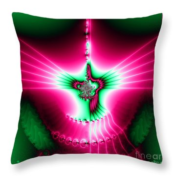 Fractal 11 Holy Spirit Throw Pillow by Rose Santuci-Sofranko