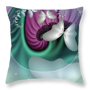 Fractal A Dream Of Butterflies Throw Pillow