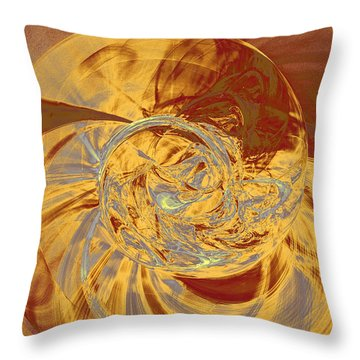 Fractal Ammonite Throw Pillow