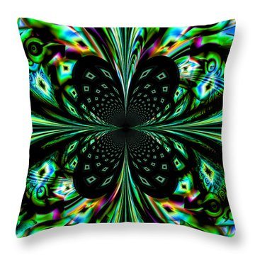 Fractal Throw Pillow by Arlene Sundby