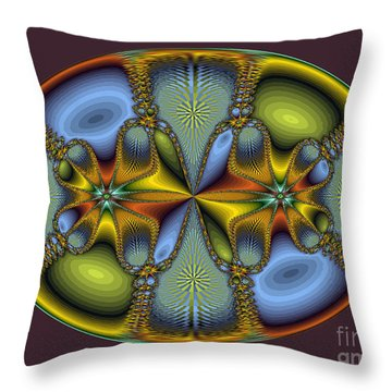 Fractal Art Egg Throw Pillow by Darleen Stry