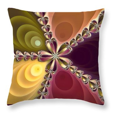 Throw Pillow featuring the photograph Fractal Beauty 4 by Jack Torcello